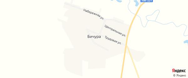 Карта села Бичуры в Амурской области с улицами и номерами домов
