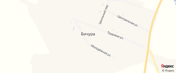 Школьный переулок на карте села Бичуры с номерами домов