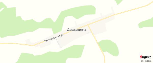 Карта села Державинки в Амурской области с улицами и номерами домов