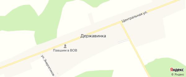 Центральная улица на карте села Державинки с номерами домов