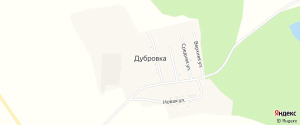 Главная улица на карте села Дубровки с номерами домов