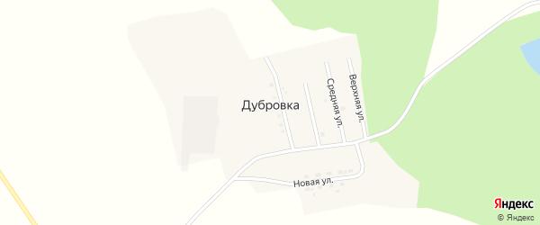 Верхняя улица на карте села Дубровки с номерами домов