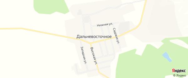 Карта Дальневосточного села в Амурской области с улицами и номерами домов