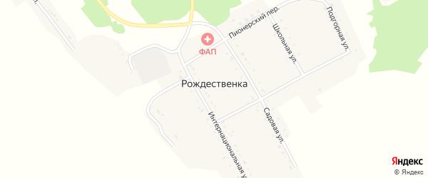 Кузнечный переулок на карте села Рождественки с номерами домов