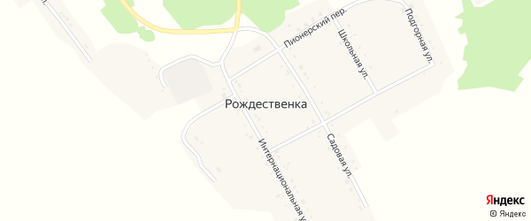 Интернациональная улица на карте села Рождественки с номерами домов