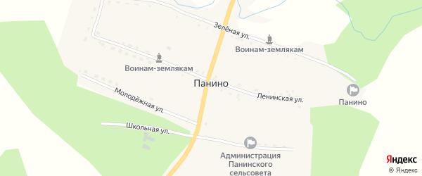 Проезжий переулок на карте села Панино с номерами домов
