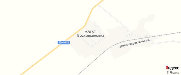Карта станции Воскресеновки в Амурской области с улицами и номерами домов