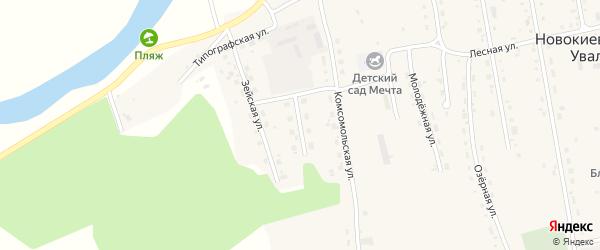 Юбилейная улица на карте села Новокиевского Увала с номерами домов