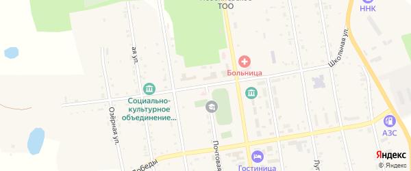 Школьная улица на карте села Новокиевского Увала с номерами домов