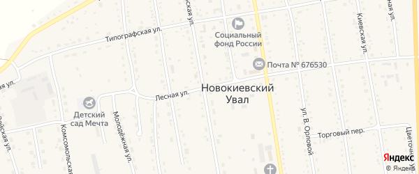 Лесная улица на карте села Новокиевского Увала с номерами домов