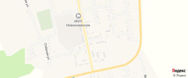 Переулок Строителей на карте села Новокиевского Увала с номерами домов