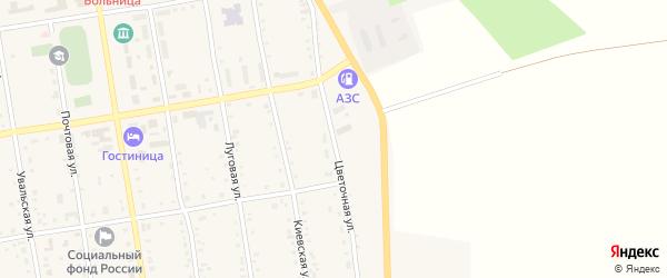 Цветочная улица на карте села Новокиевского Увала с номерами домов