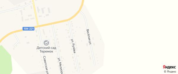 Веселая улица на карте села Новокиевского Увала с номерами домов