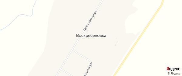 Школьный переулок на карте села Воскресеновки с номерами домов