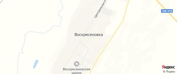 Карта села Воскресеновки в Амурской области с улицами и номерами домов