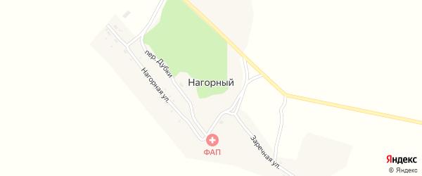 Переулок Дубки на карте Нагорного поселка с номерами домов