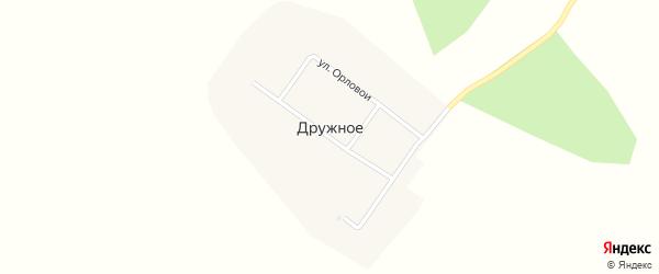 Новая улица на карте Дружного села с номерами домов