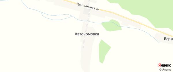 Карта села Автономовки в Амурской области с улицами и номерами домов