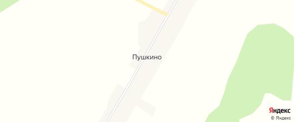 Лесная улица на карте села Пушкино с номерами домов
