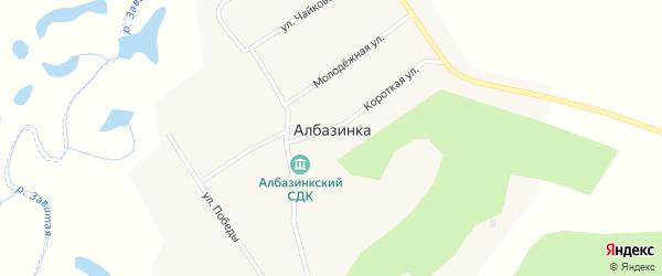 Улица Победы на карте села Албазинки с номерами домов