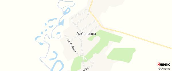 Карта села Албазинки в Амурской области с улицами и номерами домов