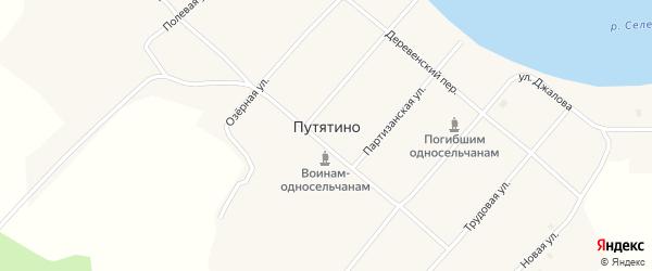 Солнечная улица на карте села Путятино с номерами домов