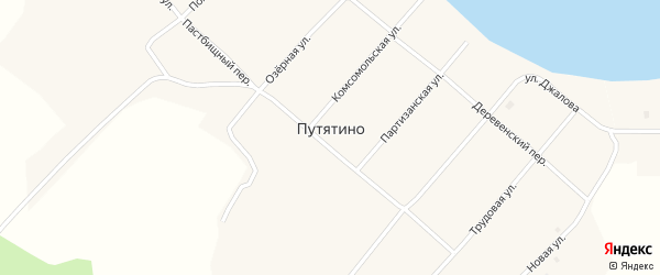 Пастбищный переулок на карте села Путятино с номерами домов
