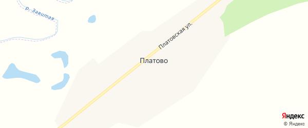 Платовская улица на карте села Платово с номерами домов