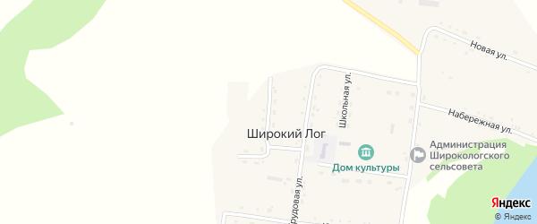 Луговая улица на карте села Широкого Лога с номерами домов