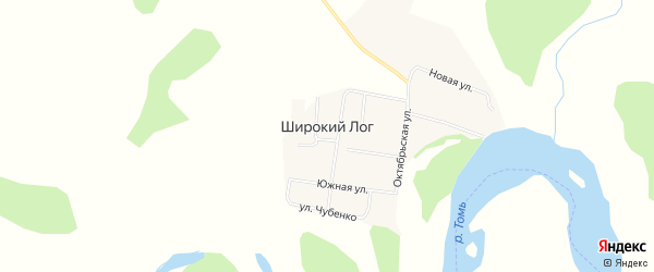 Карта села Широкого Лога в Амурской области с улицами и номерами домов