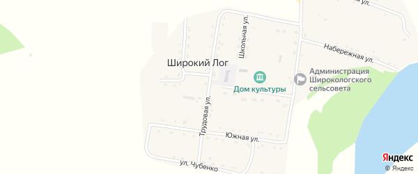 Трудовая улица на карте села Широкого Лога с номерами домов