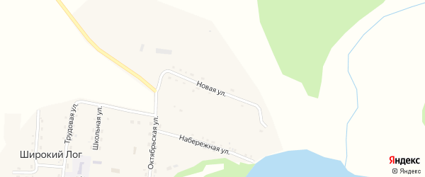 Новая улица на карте села Широкого Лога с номерами домов
