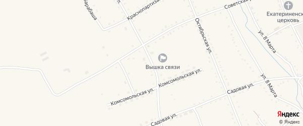 Пролетарская улица на карте села Екатеринославки с номерами домов