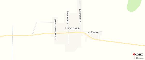 Карта села Паутовки в Амурской области с улицами и номерами домов