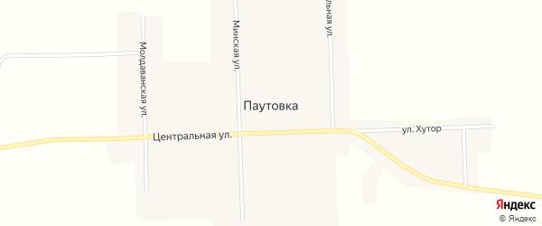 Центральная улица на карте села Паутовки с номерами домов