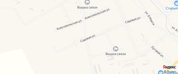 Садовая улица на карте села Екатеринославки с номерами домов