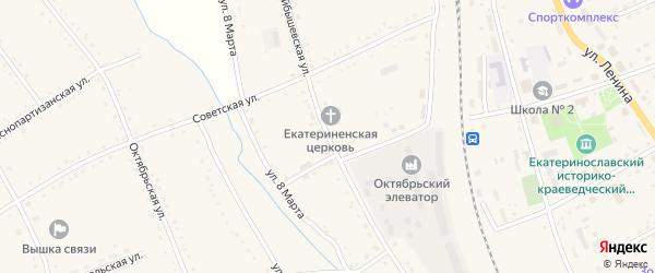 Куйбышевская улица на карте села Екатеринославки с номерами домов