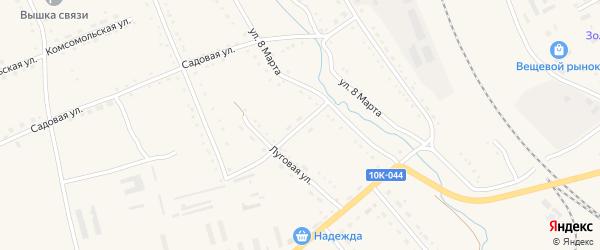 Элеваторная улица на карте села Екатеринославки с номерами домов