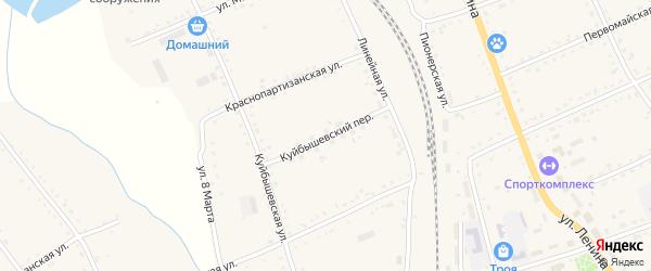 Куйбышевский переулок на карте села Екатеринославки с номерами домов