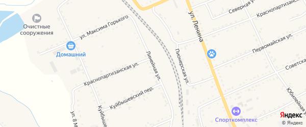 Линейная улица на карте села Екатеринославки с номерами домов