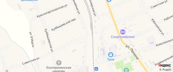 Советская улица на карте села Екатеринославки с номерами домов