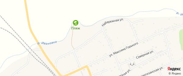 Набережная улица на карте села Екатеринославки с номерами домов