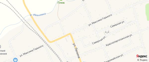Улица М.Горького на карте села Екатеринославки с номерами домов