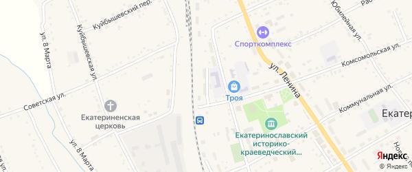Вокзальная улица на карте села Екатеринославки с номерами домов