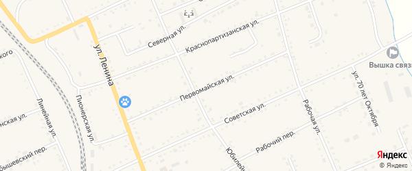 Первомайская улица на карте села Екатеринославки с номерами домов