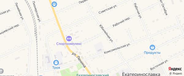 Совхозный переулок на карте села Екатеринославки с номерами домов