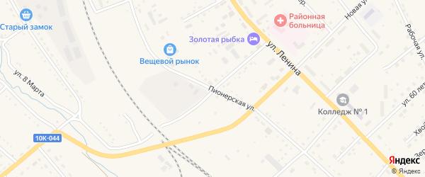 Пионерская улица на карте села Екатеринославки с номерами домов