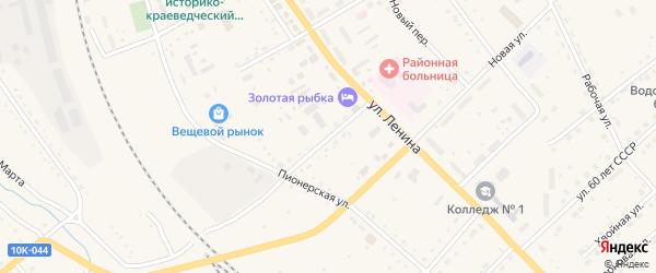 Кооперативная улица на карте села Екатеринославки с номерами домов