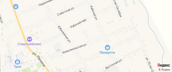 Комсомольский переулок на карте села Екатеринославки с номерами домов