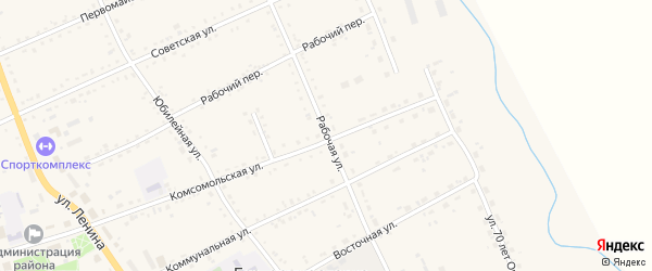 Рабочая улица на карте села Екатеринославки с номерами домов